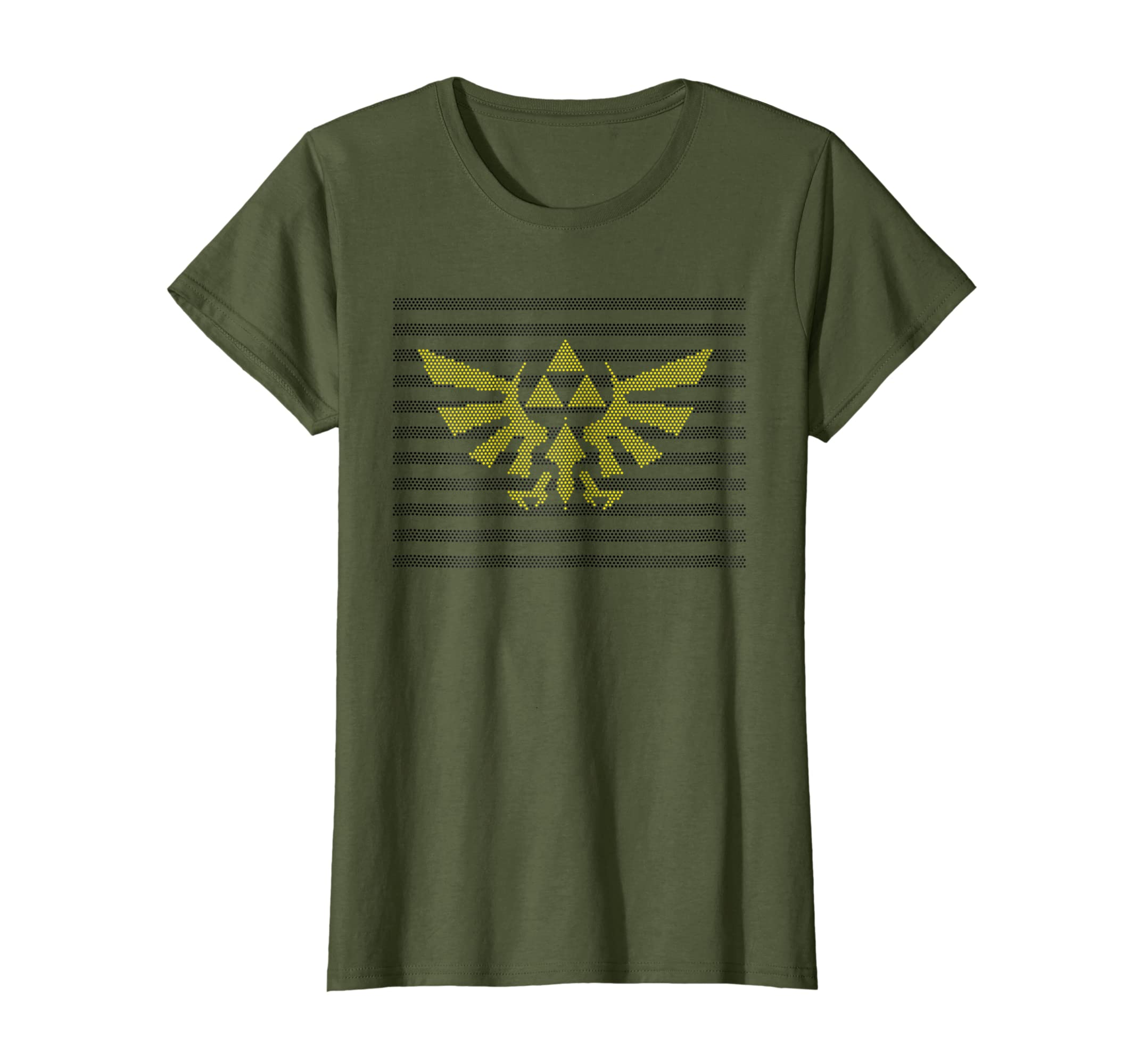 Nintendo Zelda Hylian Triforce Dot Pattern Graphic T Shirt-Teesml