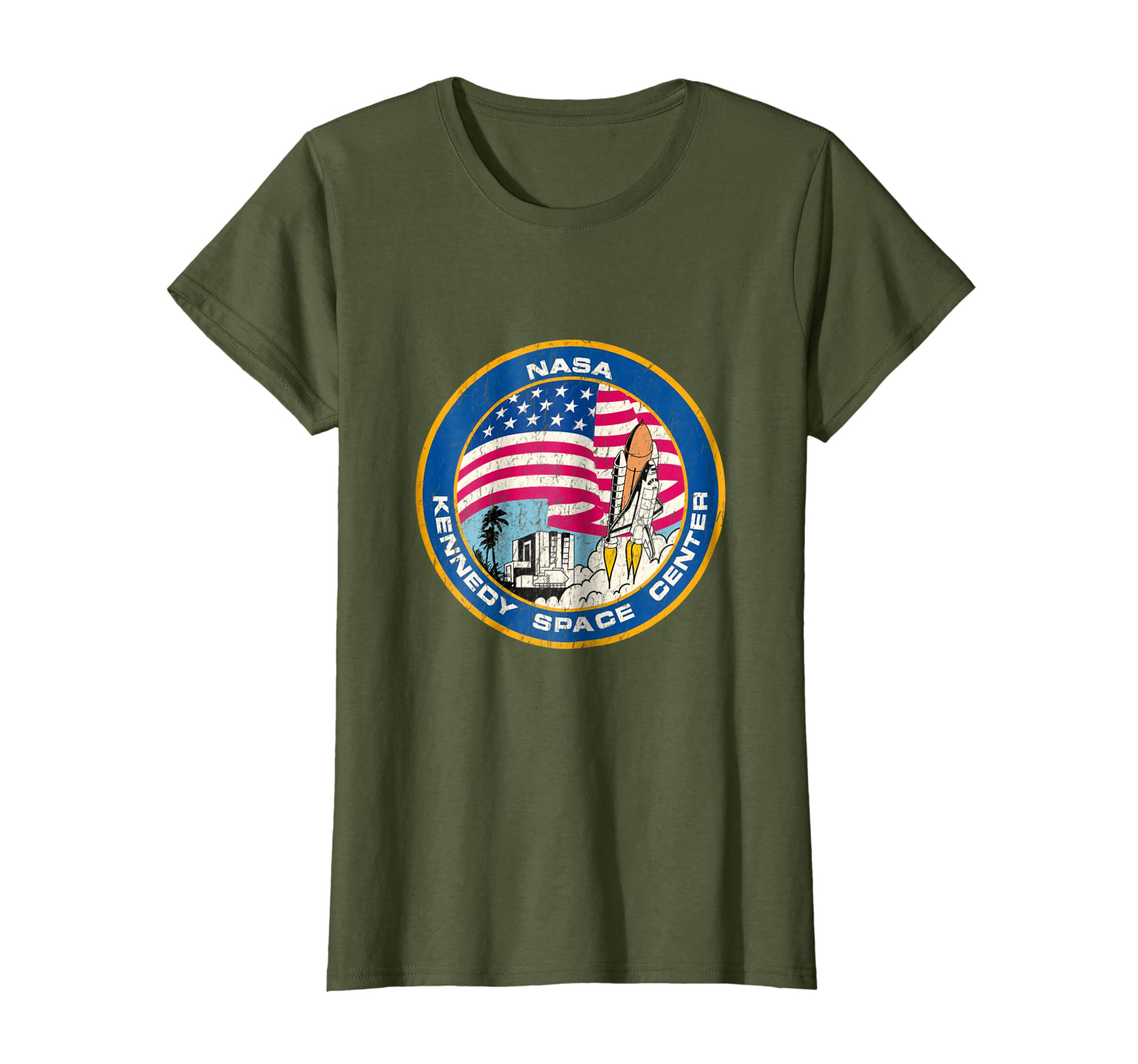 Nasa Kennedy Space Center Logo T Shirt Space Center tshirt-Teechatpro