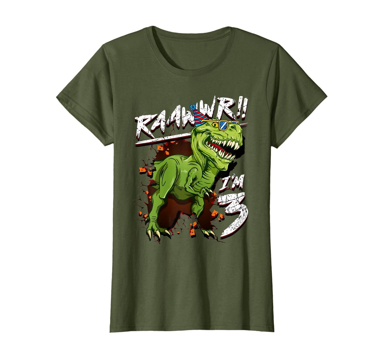 Amazon Dinosaur Bday Shirt 3rd Birthday Boy Kid T 3 Year Old Clothing