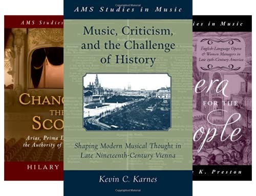 AMS STUDIES IN MUSIC (7 Book Series)