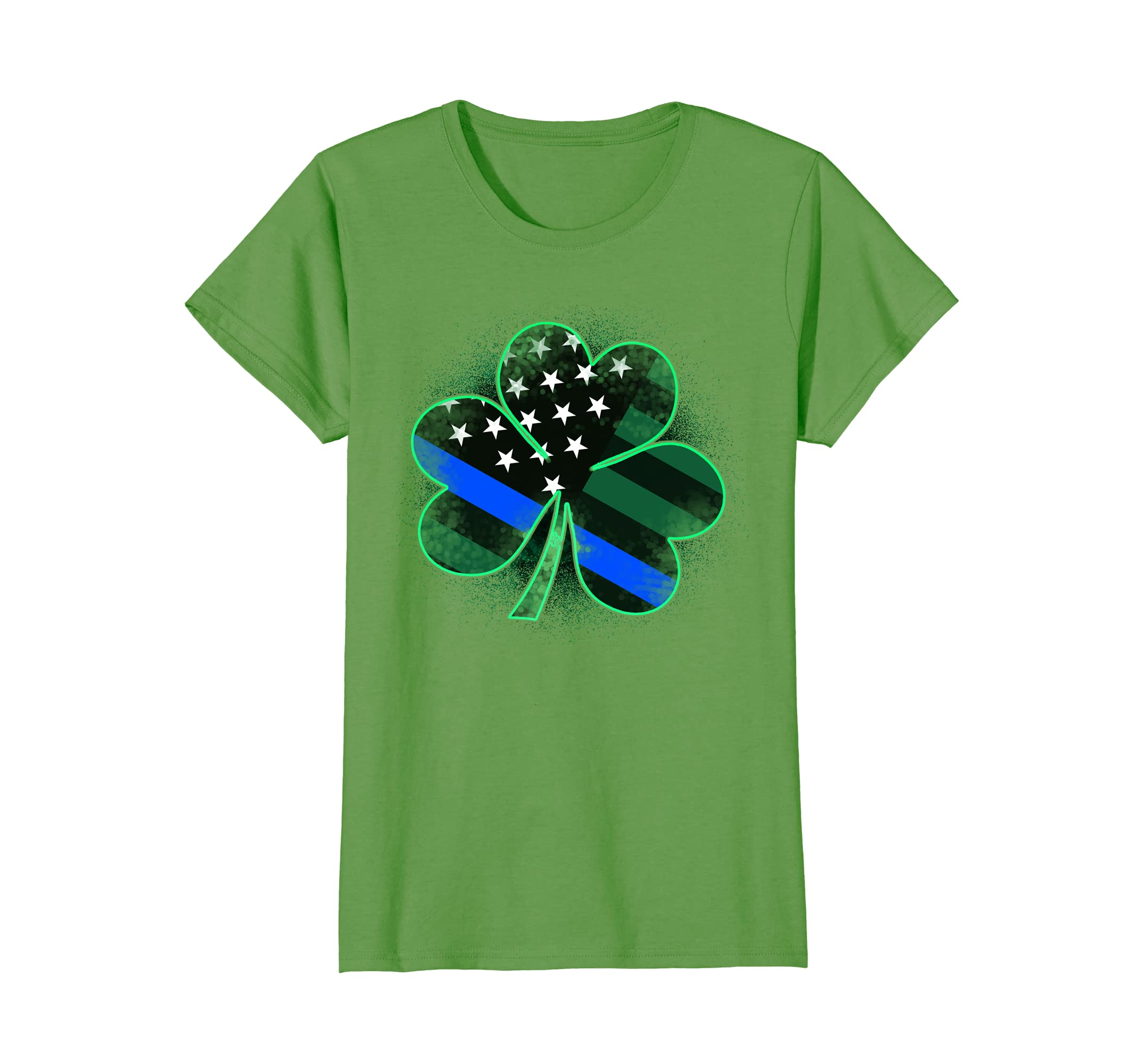 Thin Blue Patricks Clover T Shirt