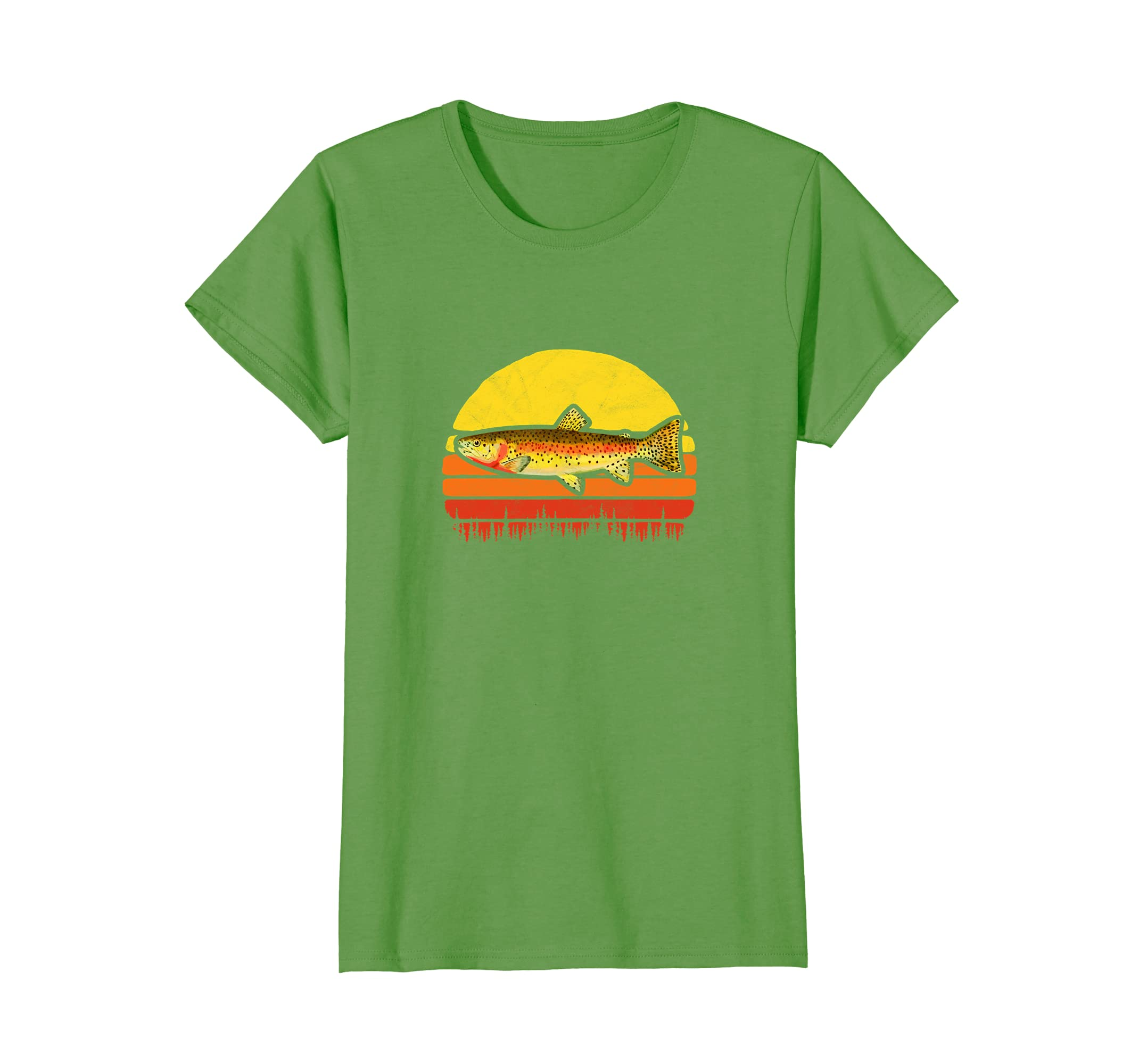 Cutthroat Trout Vintage 80s Sun Trout Fishing Tee Shirt-Awarplus