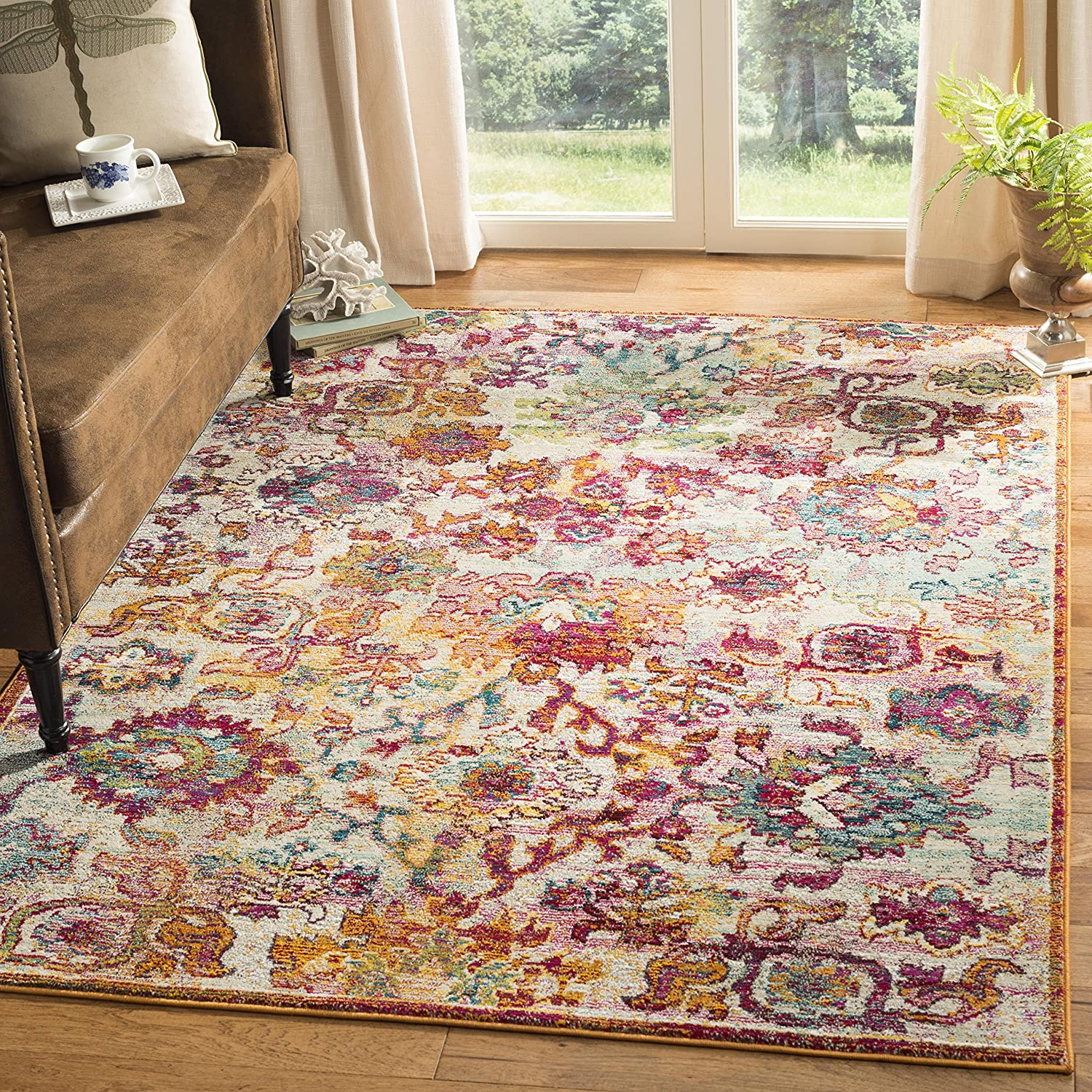 Safavieh Savannah Collection SVH620E Year-end gift Boho Chic 4' New mail order Area 6' x Rug