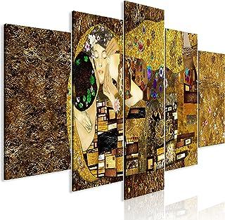 murando - Cuadro en Lienzo Gustav Klimt 225x100 cm Impresión de 5 Piezas Material Tejido no Tejido Impresión Artística Imagen Gráfica Decoracion de Pared Beso Artet l-A-0031-b-m