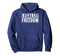 Legalize Freedom Shirts Hoodie Navy