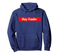 Day Trader Red Box Logo Funny T-shirt Hoodie Navy