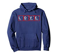 Love Elets Periodic Table T-shirt Hoodie Navy