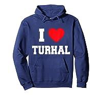 I Love Turhal T-shirt Hoodie Navy