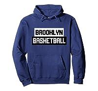Brooklyn Basketball Style Fan Net Shirts Hoodie Navy