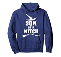 Son Of A Witch Funny Witch Inspired Gifts Premium T-shirt Hoodie Navy