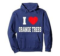 Love Orange Trees Shirts Hoodie Navy