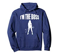 I'm The Boss Submissive Kinky Domme Bdsm Mistress T-shirt Hoodie Navy