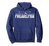 Philadelphia Football Vintage Philly Retro Eagle Gift T-shirt Hoodie Navy