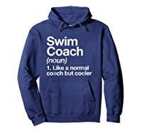 Swim Coach Funny Definition Trainer Gift Shirts Hoodie Navy