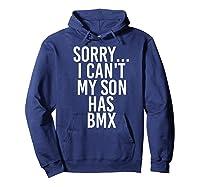 Dad Mom My Son Has Bmx Shirts Hoodie Navy