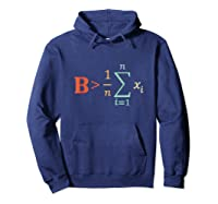Be Greater Than Average Funny Math Tea Nerd Shirts Hoodie Navy