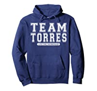 Team Torres Family Surname Reunion Crew Member Gift T-shirt Hoodie Navy