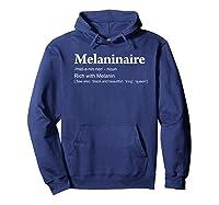 Melaninaire Definition Funny Melanin Shirts Hoodie Navy