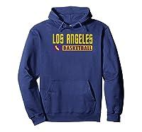 Los Angeles Basketball T-shirt, California Hoops T-shirt Premium T-shirt Hoodie Navy