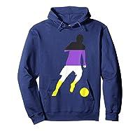 Nonbinary Flag Enby Soccer Football Sports Gay Pride Love Shirts Hoodie Navy