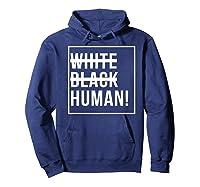 Black Human Shirts Hoodie Navy