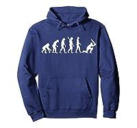 Evolution Cricket Player T-shirt Hoodie Navy