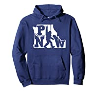 Rock And Roll Silhouette Pacific Northwest Sasquatch T-shirt Hoodie Navy