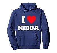 I Love Noida T-shirt Hoodie Navy