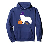 Cavalier King Charles Witch Hat Halloween Dog Costume Shirts Hoodie Navy