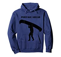 Urness Outdoors Canoeing Portage Ahead Shirts Hoodie Navy