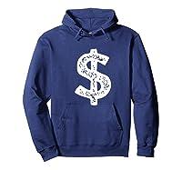 Dollar Sign Shirts Hoodie Navy