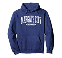 College Style Margate City New Souvenir Gift Shirts Hoodie Navy