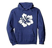 Hawaiian Hibiscus Flower Shirt Hawaii T Shirt Hoodie Navy