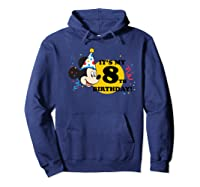 Mickey Mouse 8th Birthday Shirts Hoodie Navy