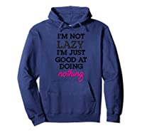 Not Lazy T-shirt Hoodie Navy