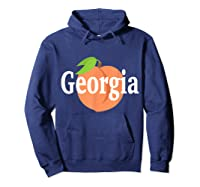 Georgia Peach State Pride Southern Roots T Shirt Hoodie Navy
