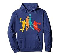 Basketball Vintage Bball Basketball Player Dunk Sport Gift Shirts Hoodie Navy