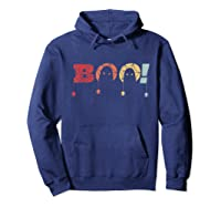 Funny Boo Halloween Costume Spiders Ghost Scary Vintage Gift T-shirt Hoodie Navy