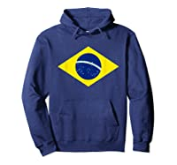 Brasil Flag Cool Brazil Brasilian Flags Top Shirts Hoodie Navy