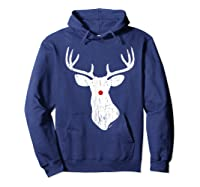 Vintage Christmas Reindeer T Shirt Hoodie Navy