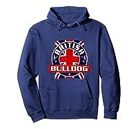 British Bulldog Flag Graphic Shirts Hoodie Navy