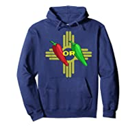 Red Or Green Chile Hatch New Mexico Zia Shirts Hoodie Navy