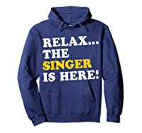 Relax Funny Singer Shirt Job Gift Lazyday Hoodie Navy