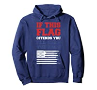 Patriotic Shirts - If This Flag Offends You Help You Pack T-shirt Hoodie Navy
