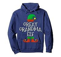 Great Grandma Elf Christmas Funny Xmas Gift Shirts Hoodie Navy