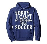 Grandpa Grandma | My Grandson Has Soccer T-shirt Hoodie Navy