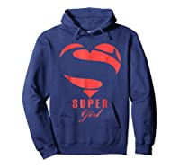 Super Girl Superhero Girl Gift Mother Father Day Shirts Hoodie Navy