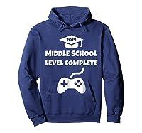 Funny Middle School Graduation Video Gamer Tshirt Hoodie Navy