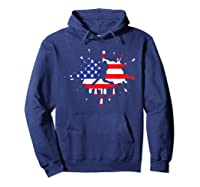 Baseball League Game Usa Flag American National Team Player Shirts Hoodie Navy