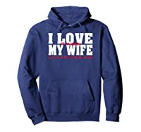 I Love It When My Wife Lets Me Buy More Guns Funny Husband T-shirt Hoodie Navy